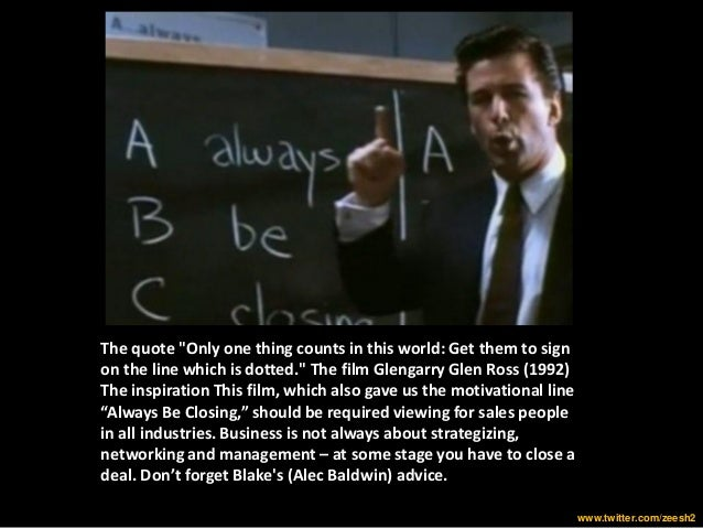 Business lessons from Movies