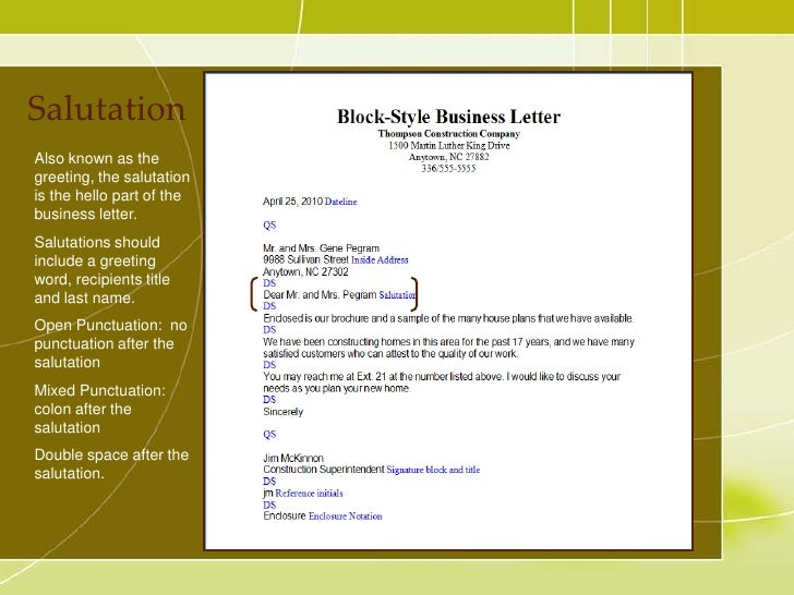 Awesome SlideShare  Salutation Punctuation