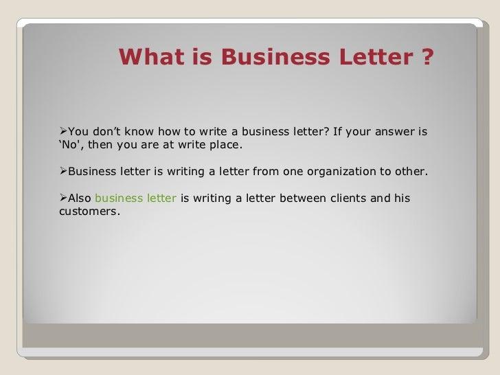 ... 2. U003culu003eu003cliu003eWhat Is Business Letter ?