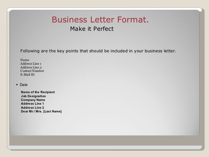 Professional Business Letter