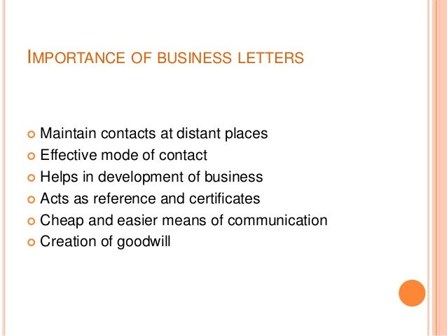 Importance of Letters in Communication