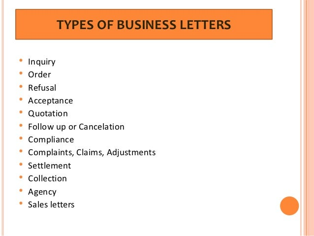 Type of business letter dolapgnetband type of business letter thecheapjerseys Image collections
