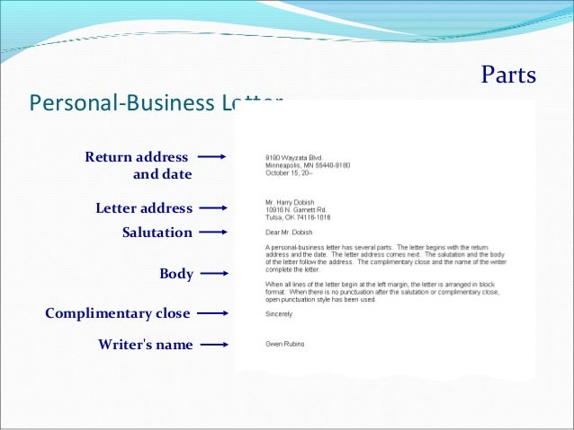 letter margin business letter