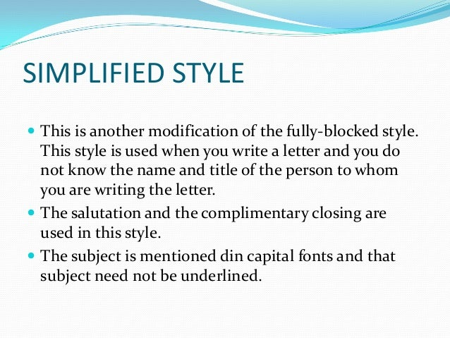 blocked letter style