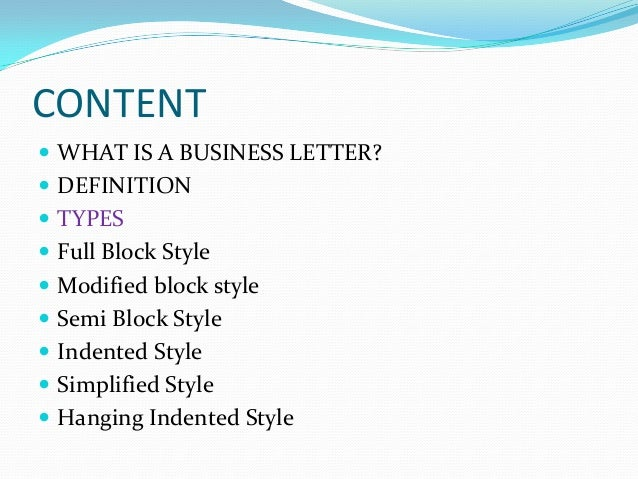 Business letters and different styles spiritdancerdesigns Choice Image