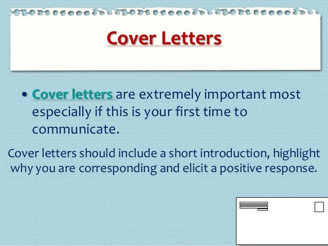 cover letter writing etiquette