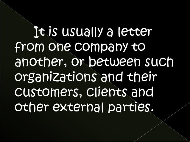 Business Letters Definition And Purpose