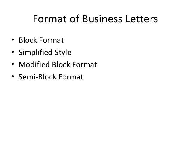 Ppt on business letter format of business letters spiritdancerdesigns Images