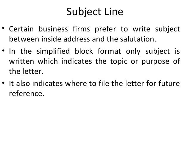 Ppt on business letter subject line spiritdancerdesigns Images