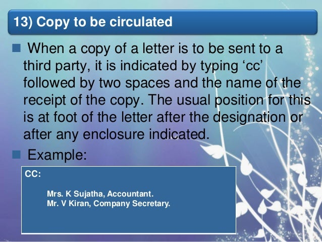 business letter parts of business later