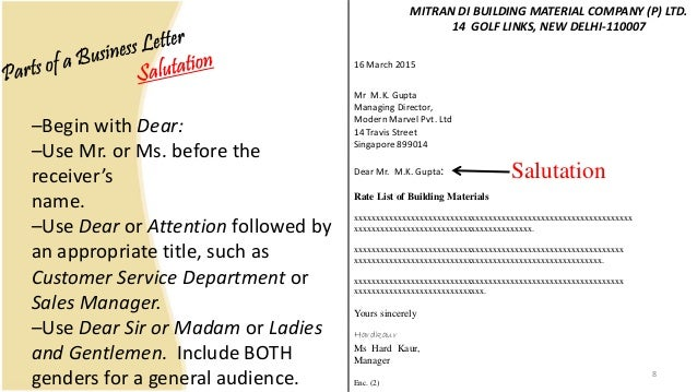 Business letter and memo writing presentation 8 spiritdancerdesigns Gallery