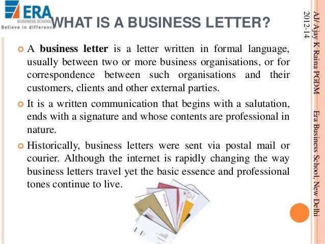 business letter formatting