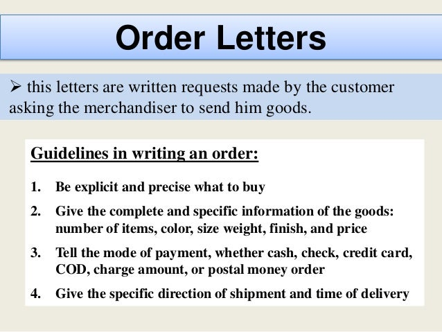 35 order letters