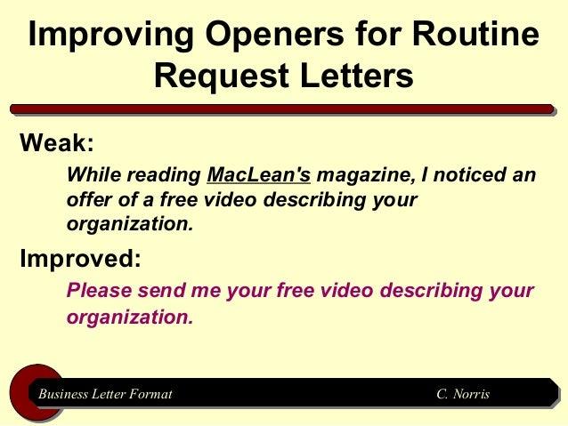 business letter format business letter format c norris c norris 10
