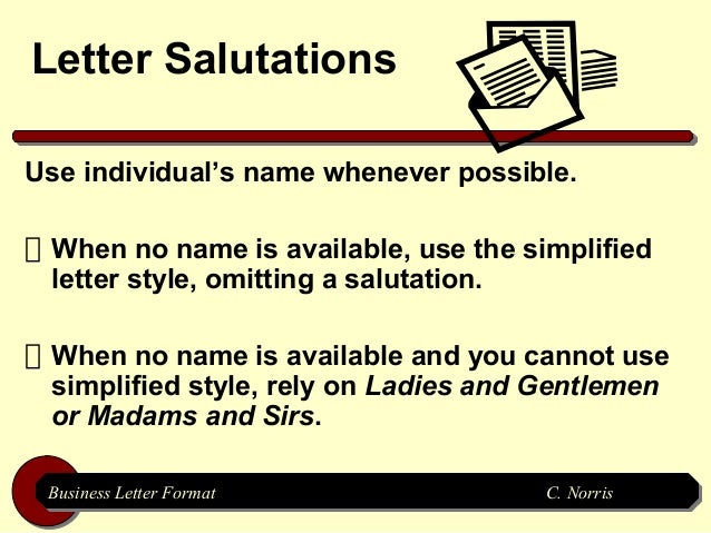 letter salutationsuse individuals name