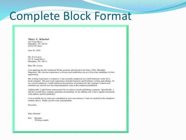 format business letters