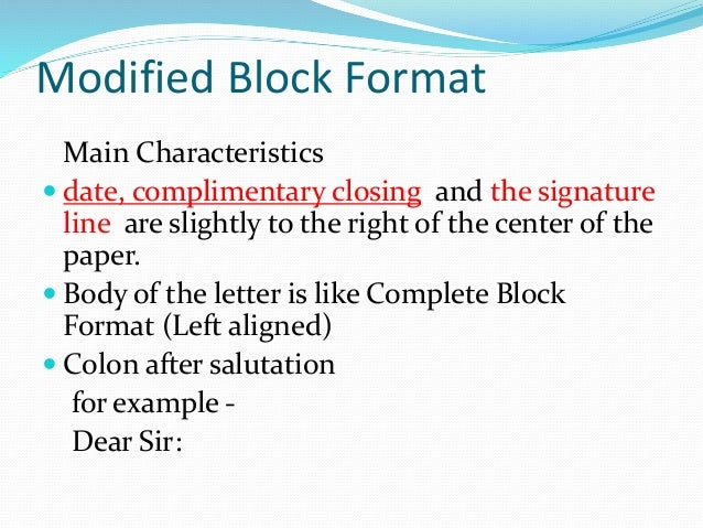 Business Letter Formats
