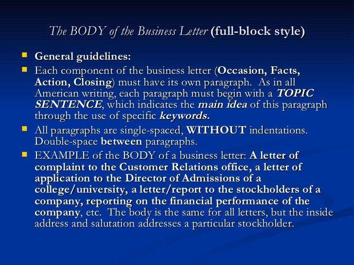 Human Body Corporation Letter Example