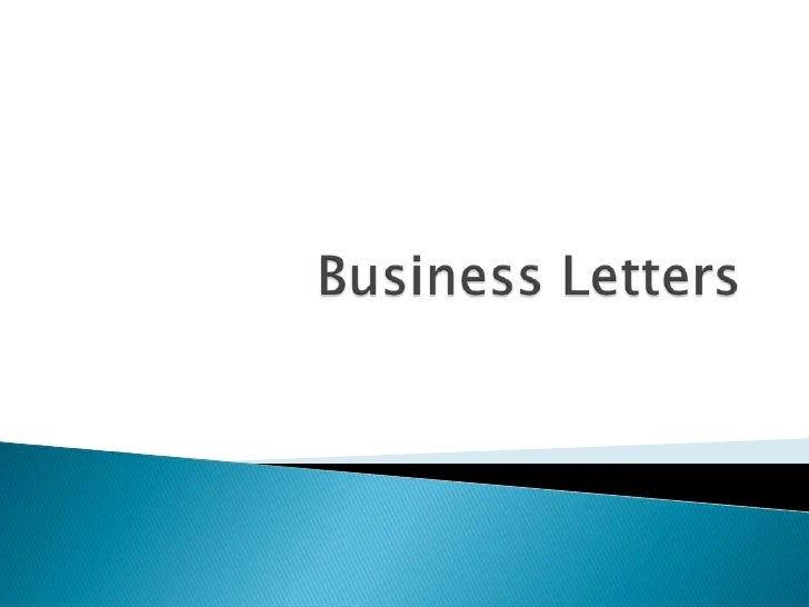 Business Letters<br />