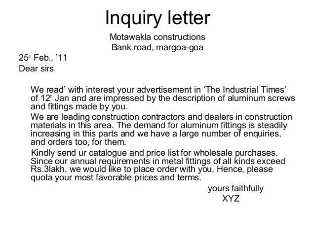 Business letters for Bulk letters