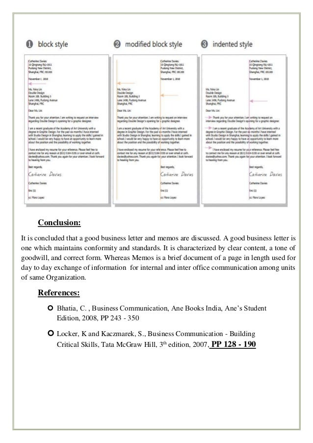 Business letters – Inter Office Communication Letter
