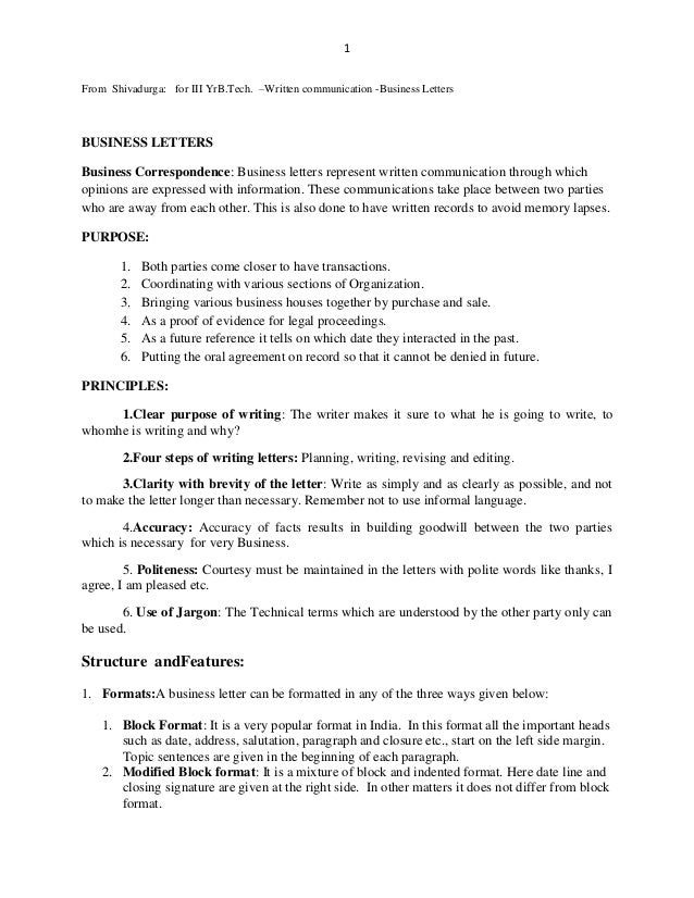 technical terms used in business writing