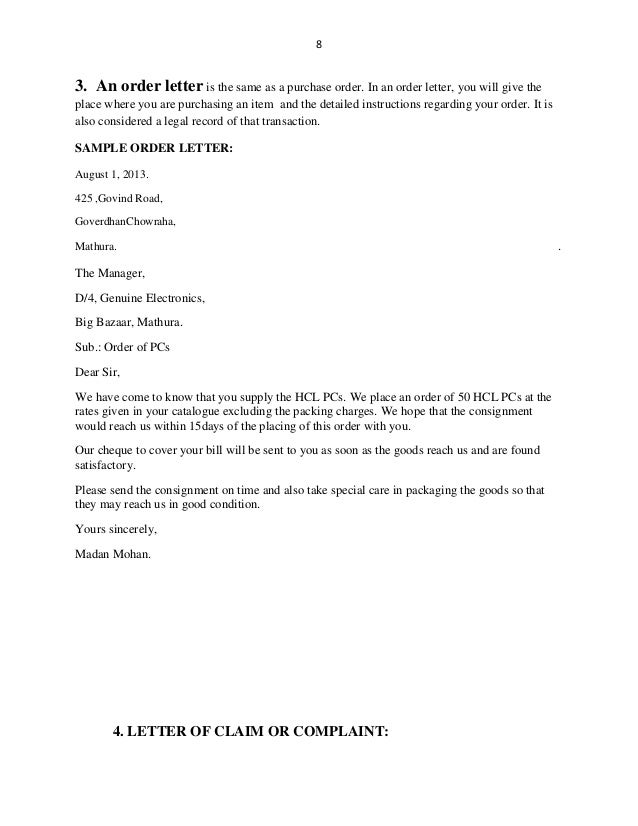 Business letters – Closing Business Letter Sample