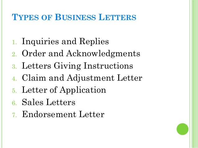 19 types of business letters