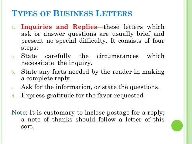 Business letters endorsement letter 20 types of business letters 1 inquiries and repliesthese letters altavistaventures Choice Image
