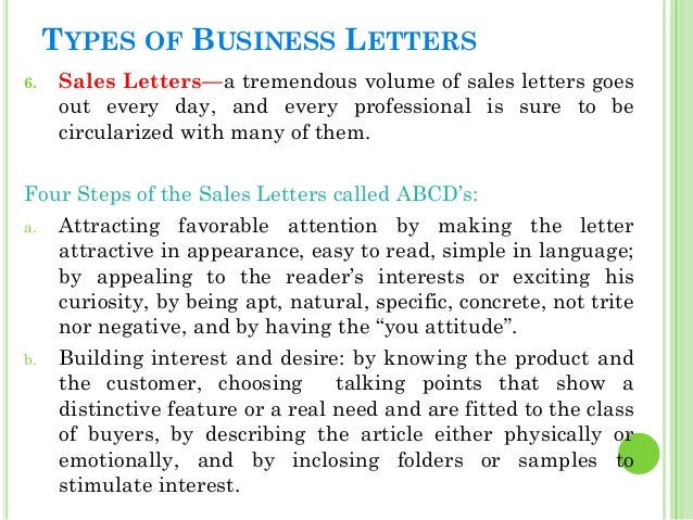 Business Letters – Professional Sales Letter