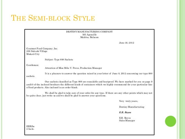 semi-block form of application letter Letter formats: block, modified block, and semi-block most letters are written in block, modified block, or semi-block format this page details how each of these.