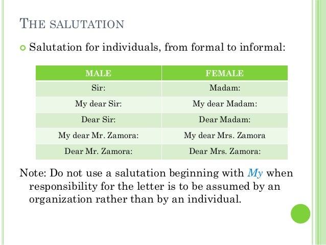 8. THE SALUTATION ...