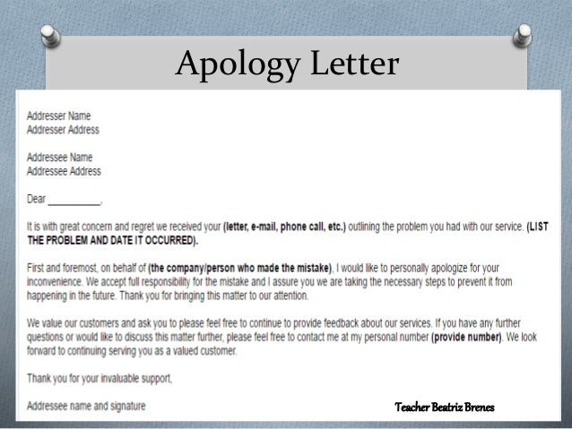 Apology Letter Teacher BeatrizBrenes