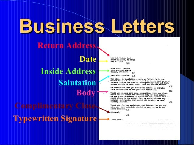 Business Letters Computers