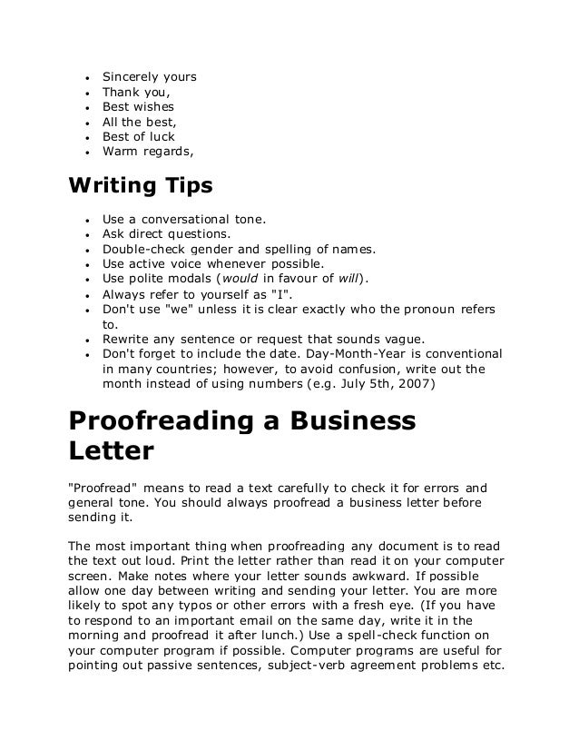 Business letters in english yours sincerely sincerely 5 spiritdancerdesigns Images