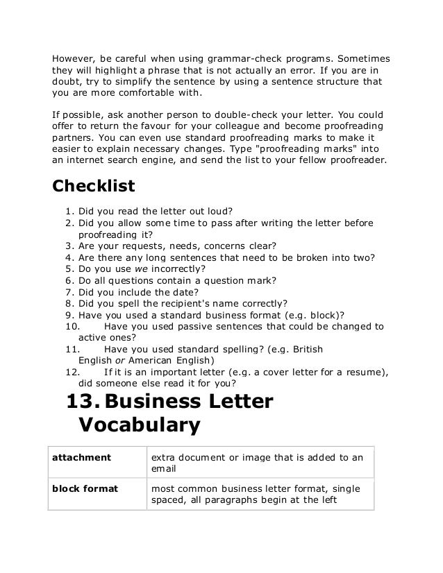 Business letters in english 6 altavistaventures Images