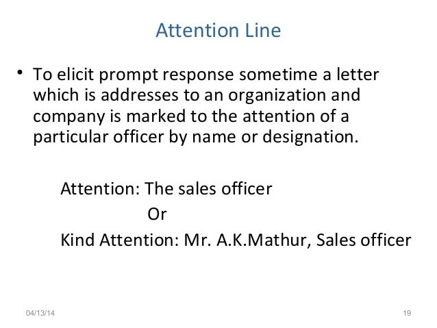 Business Letter With Attention Line Best Free Home