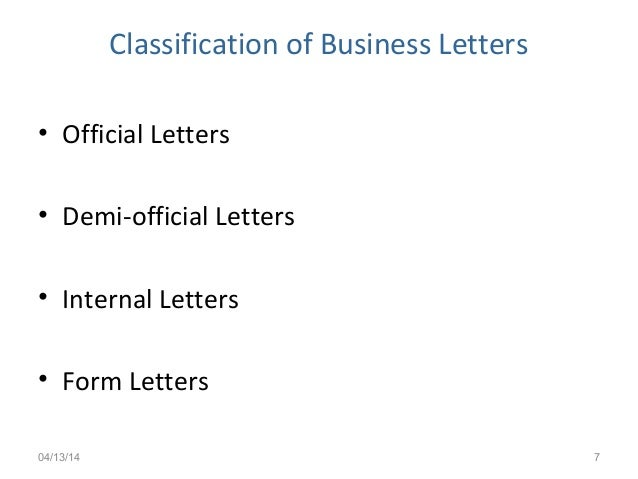 Business letters ksv 7 classification of business letters official thecheapjerseys Choice Image
