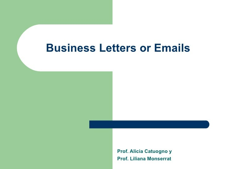 Business Letters Or Emails