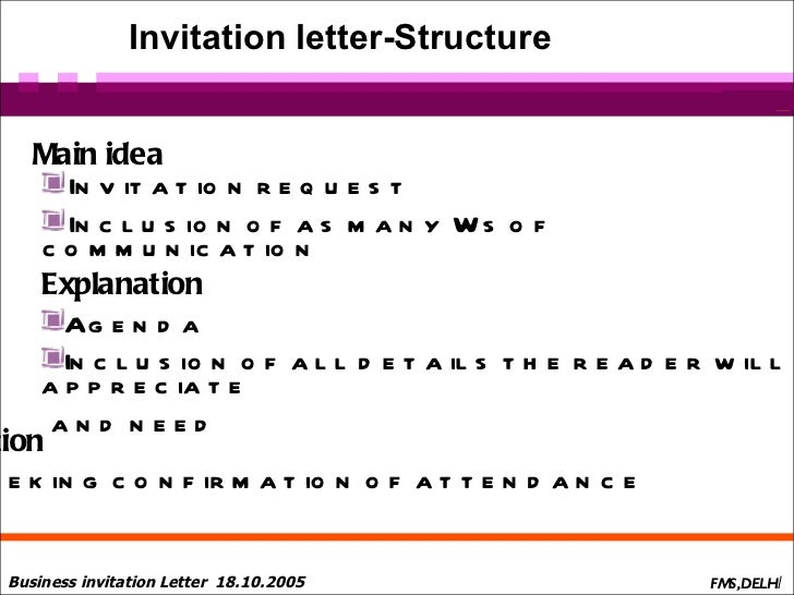 Business letters presentation1 invitation letter structure stopboris Choice Image