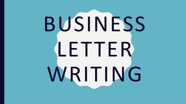 Business Letter Writing Presentation