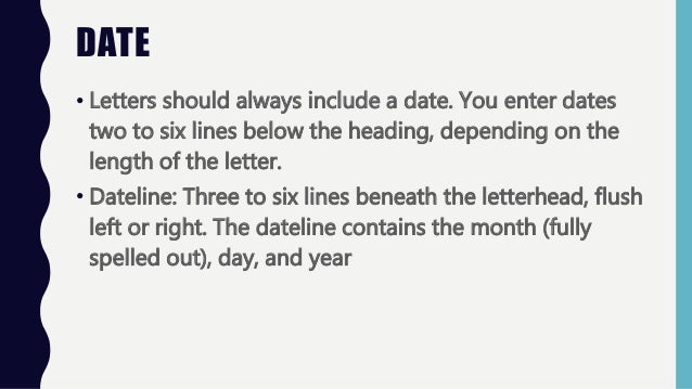 Custom of writing letter ppt