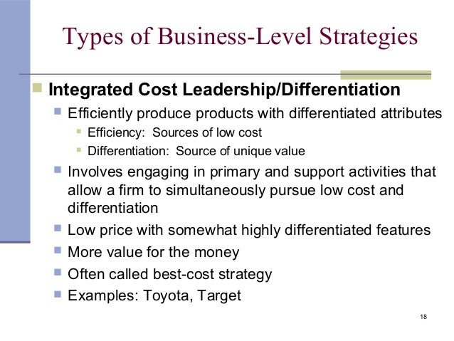 cost leadership and differentiation strategies simulatenously Its mission statement indicates a cost leadership strategy however, the company is also applying an indirect differentiation however, the company is also applying an indirect differentiation strategy due to its unique way of incorporating the customer in the value chain.