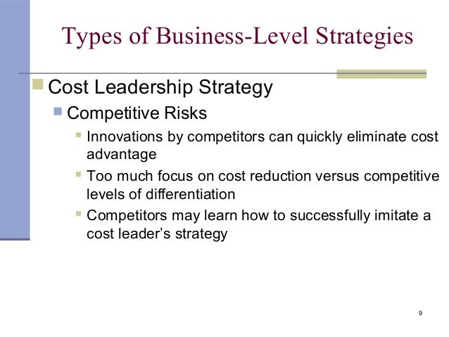 4 business level strategy Business strategy porter's five forces  the level of competition among the existing competitors in the  competitive strategy is a long term plan which helps the.