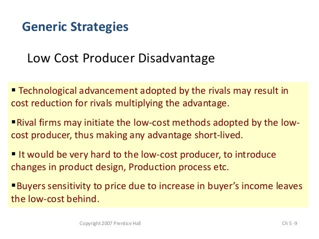 advantage and disadvantage of generic strategies Organizations implement both generic and specific strategies to help gain this advantage in business-level strategy brian advantages & disadvantages of.
