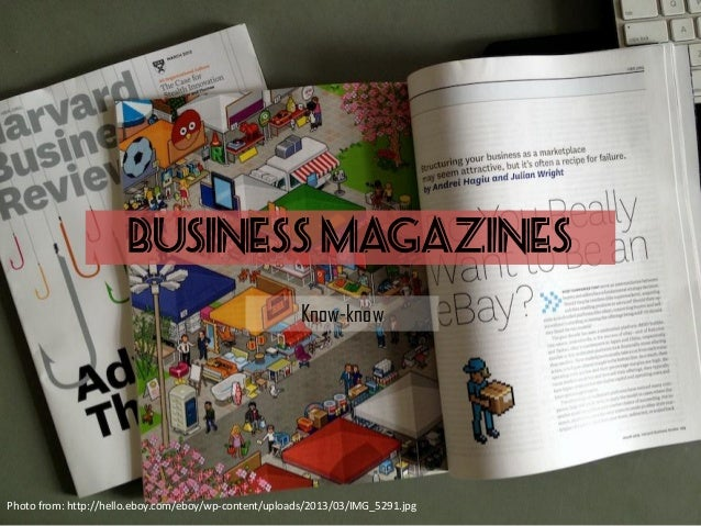 BUSINESS MAGAZINES Know-know Photo from: http://hello.eboy.com/eboy/wp-content/uploads/2013/03/IMG_5291.jpg