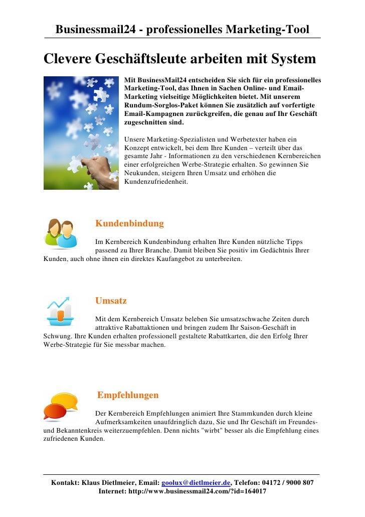 Businessmail24 - professionelles Marketing-ToolClevere Geschäftsleute arbeiten mit System                           Mit Bu...
