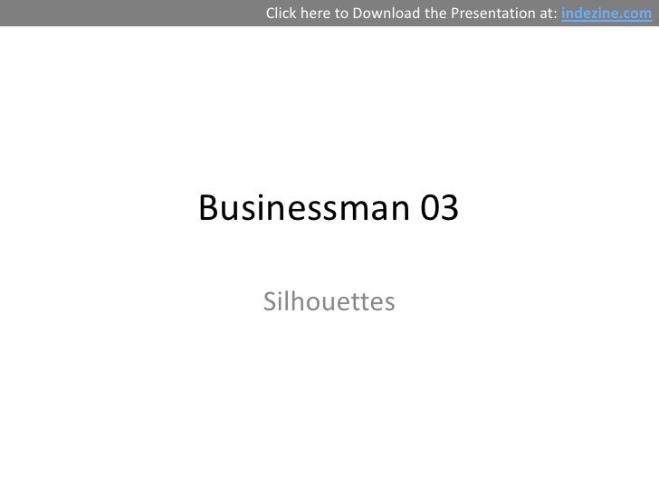 Free PowerPoint Silhouettes - Businessman