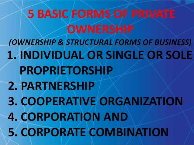ownership and structural forms of business Home what is a co-op business structure comparison business structure comparison (for additional resources, see co-op topics) the legal structure of any business organization defines ownership, control, and earnings distribution.
