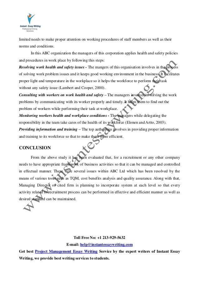 sample report on managing business activities by instant essay writing  18